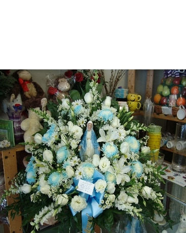 Blessed Mother Funeral Basket In Lyndhurst Nj Flowers By Chuck