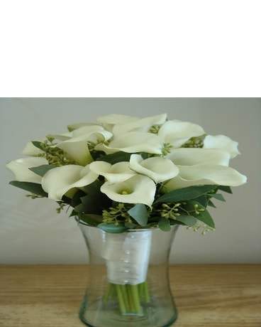 White Lily Eucalyptus Bridal Bouquet In Lyndhurst Nj Flowers