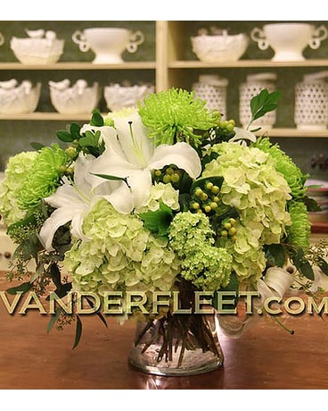Classic All White Floral Design