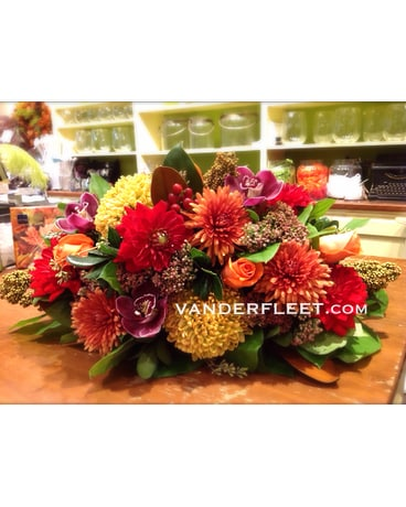 Fall Passion Floral Centerpiece