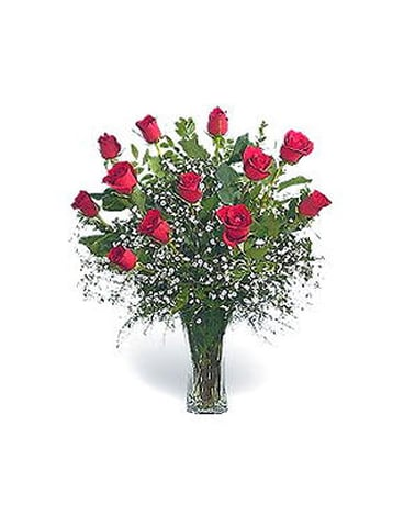 12 Long Stem Roses, Choose Your Color