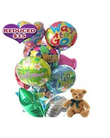 Balloons & Bear-12 Mylar,Choose Occasion