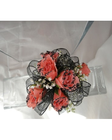 Roses with black accents