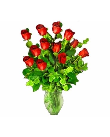 One Dozen Imported Red Roses