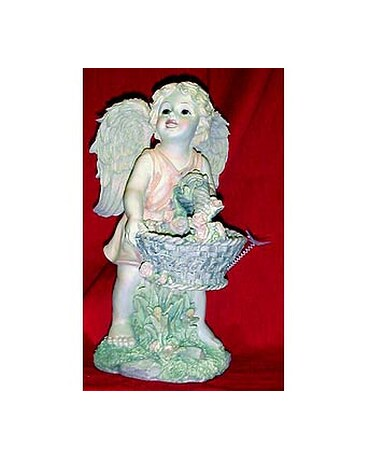 Cherub angel with basket