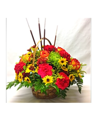 Filer's Fall Mixed Basket Bouquet