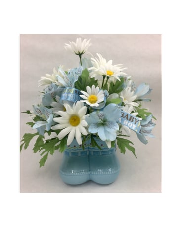 Silk Blue Booties - Artificial Arrangement
