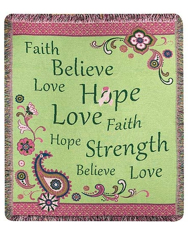 Faith Hope Believe Throw