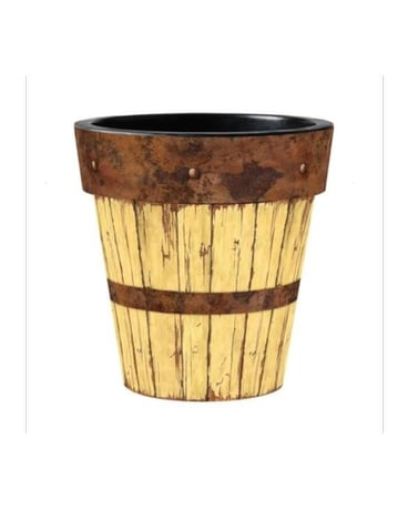 12 Yellow Barnwood Art Planter