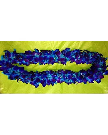 Solid Blue Lei