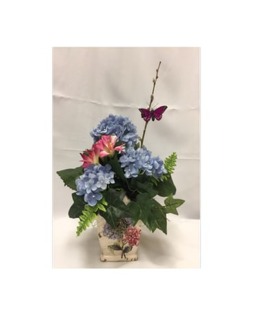 Silk flower arrangements delivery dearborn mi fishers flower shop quick view silk birdhouse arrangement mightylinksfo