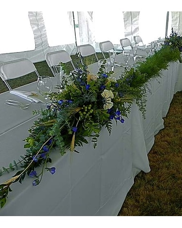 Sapphire Table Garland