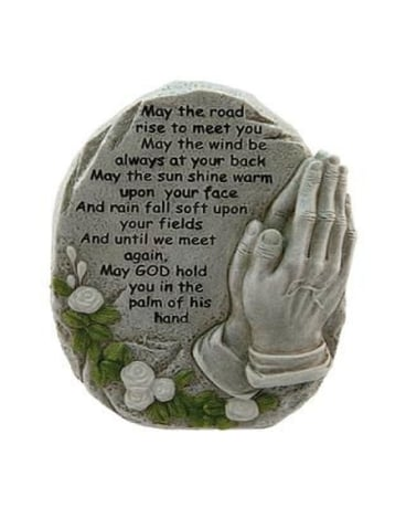 May the Road Praying Hands Statue