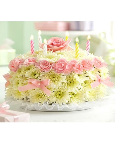 Birthday Flower Cake in Pastels in Manhattan KS - Westloop Floral