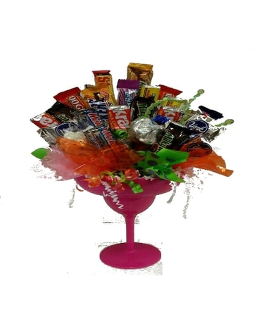 Candy Bouquet - Margarita Glass