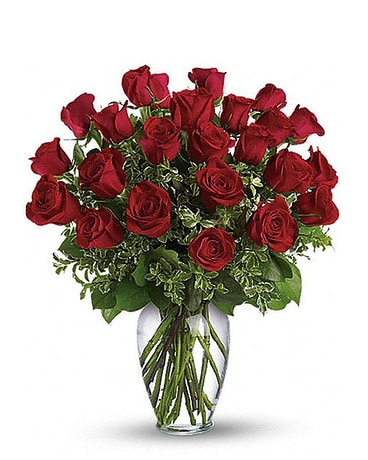 2 Dozen Beautiful Roses Flower Arrangement