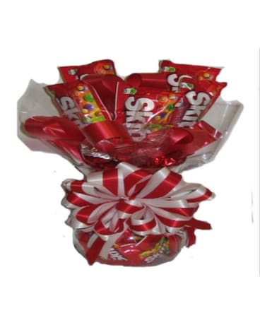 Sweetheart Candy Bouquet  (Skittles)