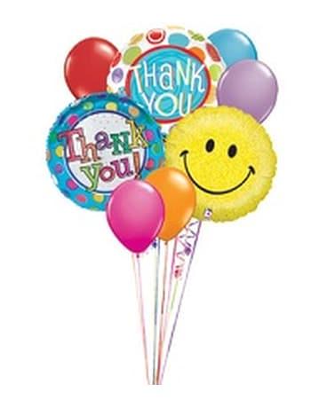 Smiley Face Thank You Balloon Bouquet in Elizabeth PA - Barton's