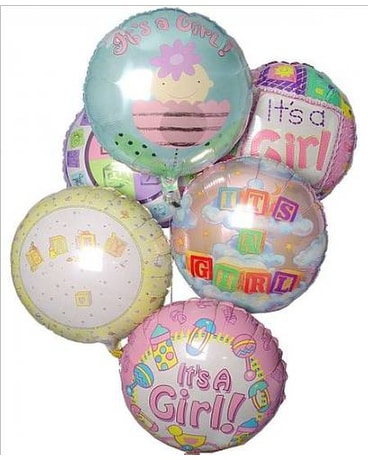 Baby Girl Mylar Balloon Bouquet