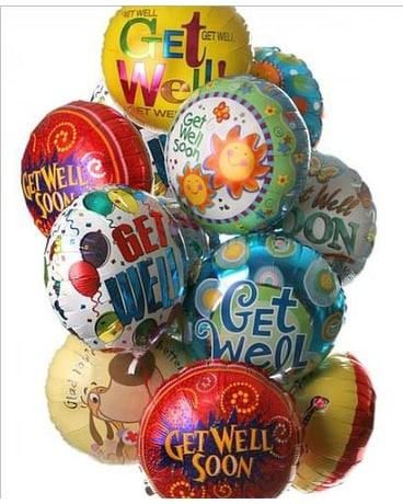 Get Well Mylar Balloon Bouquet
