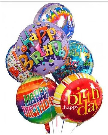 Happy Birthday Mylar Balloon Bouquet