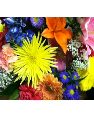 Bright and Colorful Vase Arrangement