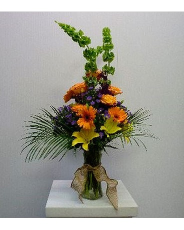 Gathering Vase in Yellow, Orange, Purple