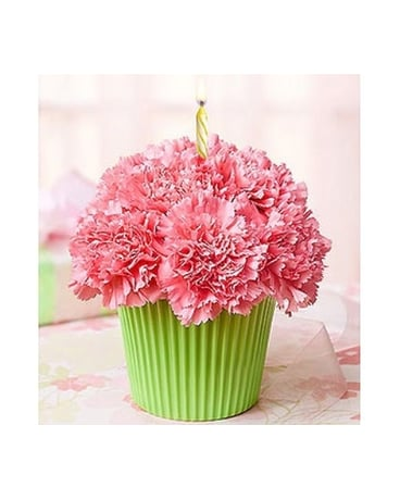 Buds and Blooms Cupcake Birthday Bouquet