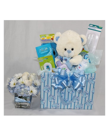 Mom and Baby Boy Welcome Basket