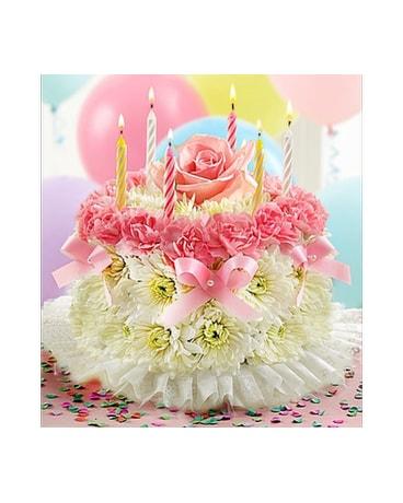Brilliant Birthday Flower Cake Pastel In Mission Viejo Ca Conroys Flowers Funny Birthday Cards Online Alyptdamsfinfo