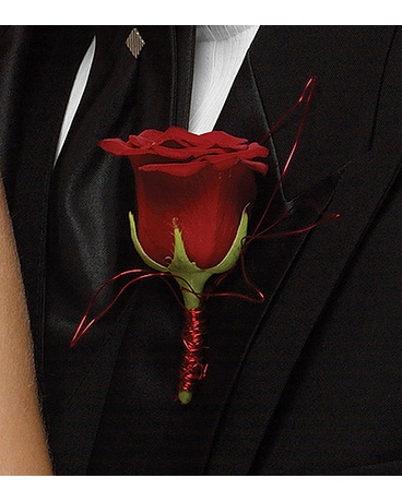 Boutonniere - Rose Red