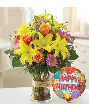 Birthday delivery palm desert ca milans flowers gifts quick view special birthday with balloon hb17815sm mightylinksfo