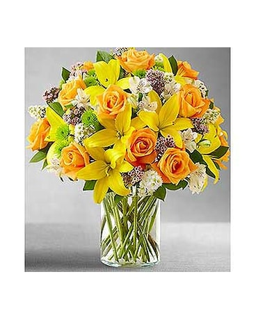 Palm desert florist flower delivery by milans flowers gifts fields of europe in cylinder vase mf91798l mightylinksfo
