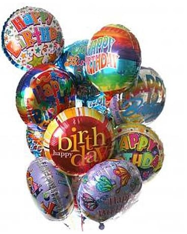 Quick View 12 Birthday Balloon Bouquet