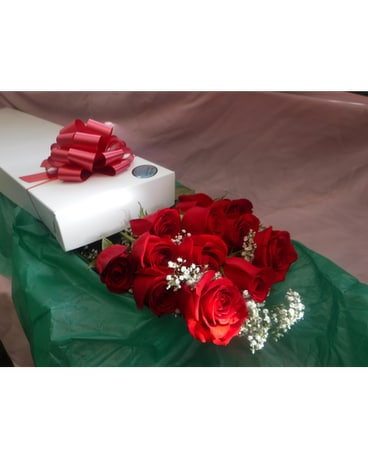 1 Dozen Red Roses Boxed