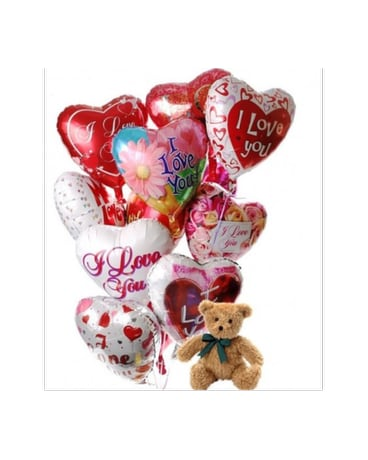 I Love You Bouquet with Bear