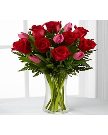 LOVE ROSES AND TULIPS BOUQUET