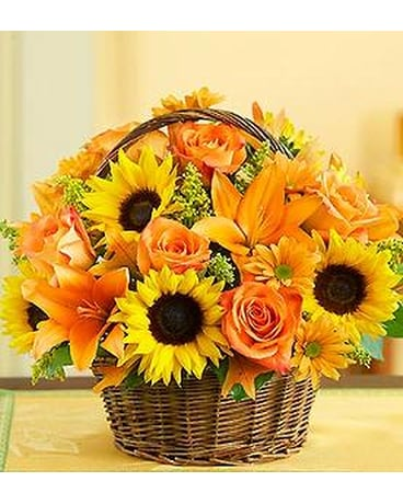BASKET OF FALL BOUQUET