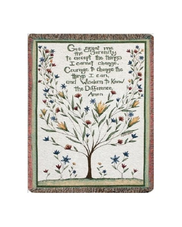 Serenity Prayer Tapestry Throw