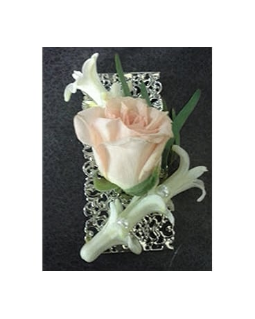 Peaches And Lace Boutonniere In Fairless Hills Pa Flowers By