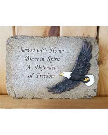 Patriotic Soaring Eagle Plaque