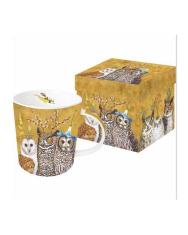 Gift Box Mug - Owl Family
