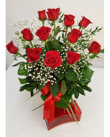 Upgraded Dozen Red Roses