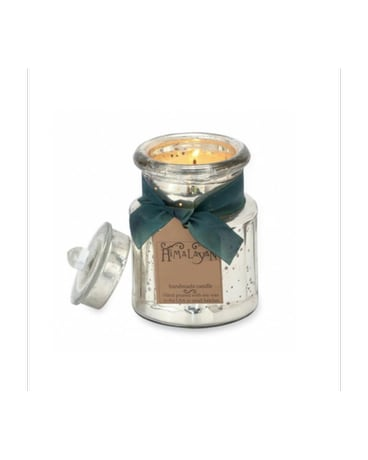 Himalayan General Store Silver Jar Soy Candle