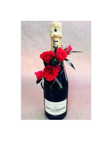 Moet & Chandon with roses