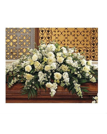 Casket Spray in White