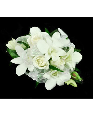 Wrist Corsage-All White