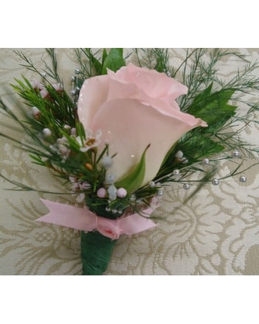 To Match Her Pink Rose Boutonniere In Saratoga Springs Ny Dehns