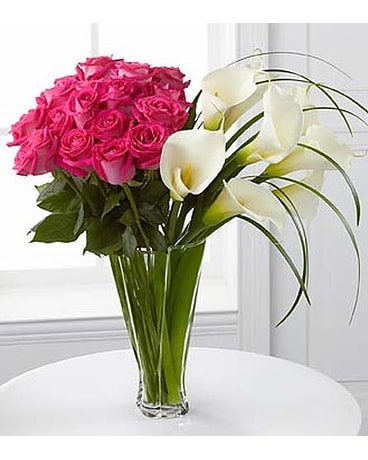 Irresistible Luxury Rose Calla Lily Bouquet In Malverne Ny