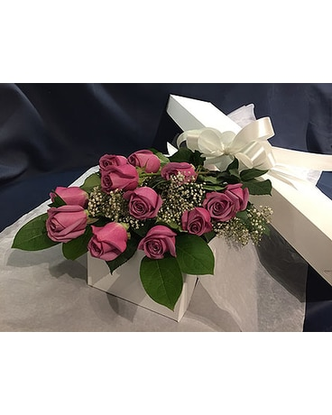 Lavender Roses Boxed